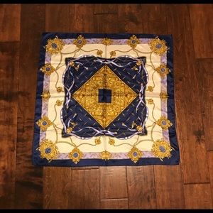 Blue and Gold Square Scarf